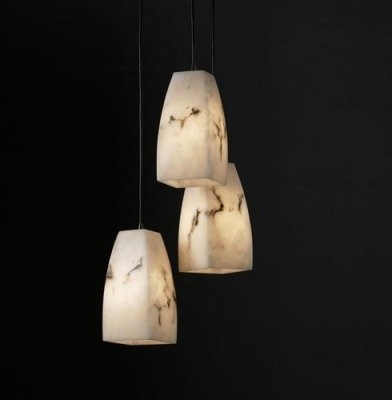 Justice Design Group LumenAria FAL-8864-65-MBLK Small 3-Light Cluster Pendant - modern-ceiling-lighting