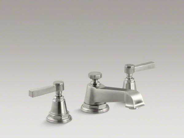Kohler Pinstripe R Pure Widespread Bathroom Sink Faucet With Lever Handles Contemporary