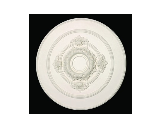 White Urethane Ceiling Medallion - Ceiling Medallions: Made of virtually indestructible high-density urethane our medallions are cast from steel molds making them the highest quality on the market.