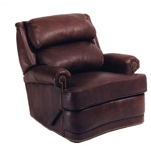 Hi-Back Leather Pub Recliner modern-accent-chairs