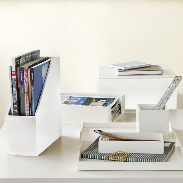 Lacquer Office - modern - desk accessories - by West Elm