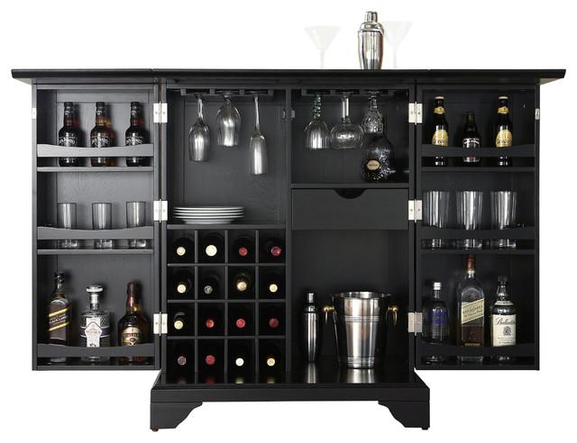 Lafayette Expandable Bar Cabinet Transitional Bar