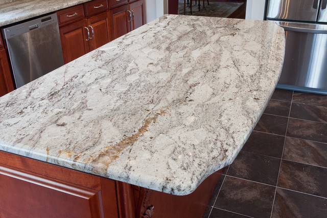 White Granite Kitchen Countertop : White Granite - Modern - Kitchen Countertops - dc metro - by Granite ...