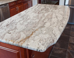 Taupe White Granite modern kitchen countertops