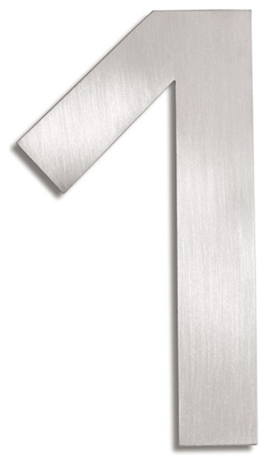 Signo Stainless Steel House Number - 1 contemporary-house-numbers