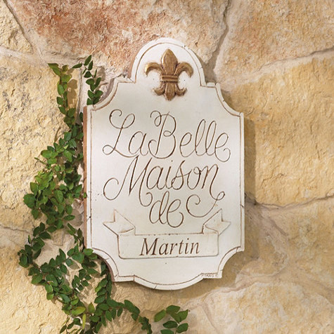 Personalized La Belle Maison Plaque - traditional - outdoor decor ...