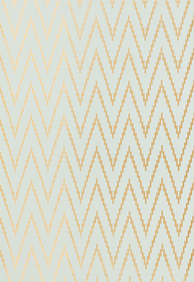 Kasari Ikat Wallpaper, Aquamarine contemporary wallpaper