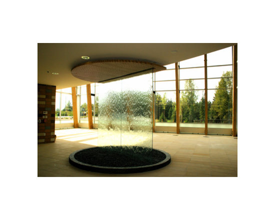 Indoor Custom Water Feature Ideas - This is an excellent example of the type of water feature that the expert builders at Water Feature Supply can create. Our fountain engineers have the experience and knowledge to help create your custom water wall project bringing even your wildest dream into reality. Every one of our custom water features is hand built with the finest quality materials in the world and fully tested to ensure longevity. Creating beautiful custom built water features is our specialty...Water Feature Supply.