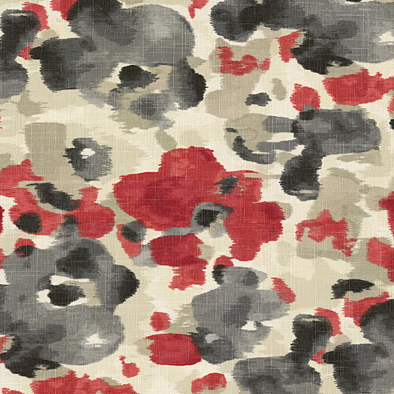 Red Amp Gray Dappled Watercolor Fabric Contemporary