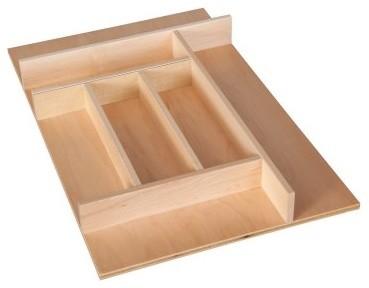 Century Trimmable Silverware Tray Insert modern-kitchen-drawer-organizers