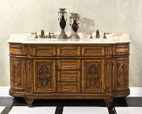 Ornate and Antique Bathroom Vanities - Ornate Traditional Bathroom Vanities – Unique Ways To Get An Opulent Look.