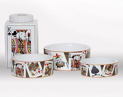 Monte Carlo Dog Bowl - Small eclectic-pet-bowls-and-feeding