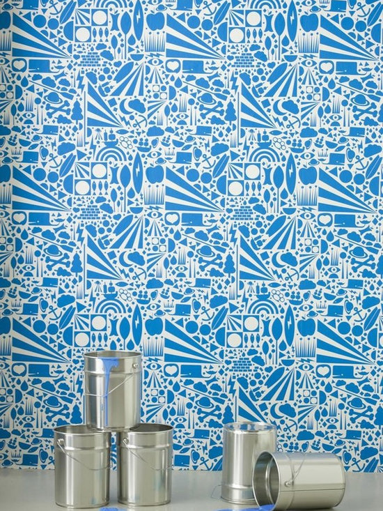 Ferm Living Gravity Wallpaper - Ferm Living's Wallpaper is graphic & whimsical adding character, charm and personality to any room. Wallpaper has a striking effect and will without a doubt turn your room into a sanctuary.