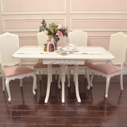 Elegant Dining Table with Drop Leafs Wings mediterranean-dining-tables