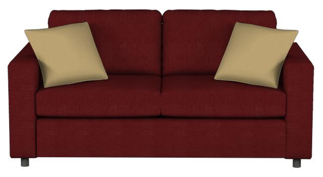 703 Queen Sleeper, Stoked Ruby, Stanton Memory Foam Premium Mattress contemporary-sofa-beds