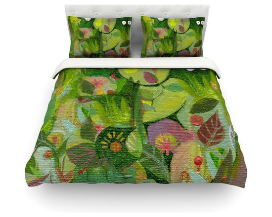 "Kess InHouse - Marianna Tankelevich ""Jungle"" Cotton Duvet Cover (Twin, 68"" x 88"") - Rest in comfort among this artistically inclined cotton blend duvet cover. This duvet cover is as light as a feather! You will be sure to be the envy of all of your guests with this aesthetically pleasing duvet. We highly recommend washing this as many times as you like as this material will not fade or lose comfort. Cotton blended, this duvet cover is not only beautiful and artistic but can be used year round with a duvet insert! Add our cotton shams to make your bed complete and looking stylish and artistic! Pillowcases not included."