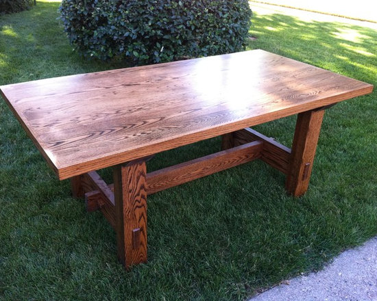 Past Projects - Red oak dining table.