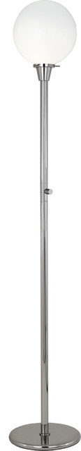 Rico Espinet Buster Globe Floor Lamp, Nickel/White contemporary-floor-lamps