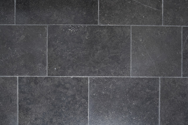 Pierre noir tile contemporary wall and floor tile portland by ann sacks - Texture carrelage noir ...
