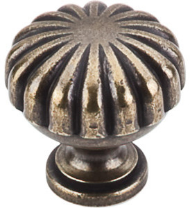 "Melon Knob 1 1/4"" - German Bronze traditional-cabinet-and-drawer-knobs"