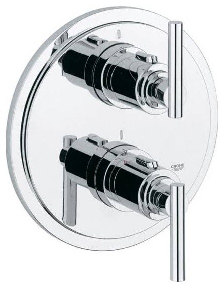 Grohe Atrio Thermostatic Only Shower Trim - modern - showers