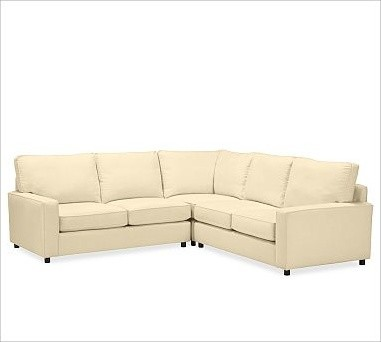 PB Comfort Square Arm Upholstered Sectional 3-Piece L-Shaped Corner Sectional, P traditional-sectional-sofas