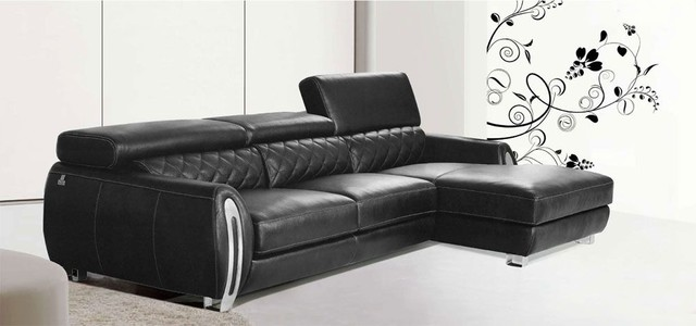 Advanced Adjustable Quality Leather L-shape Sectional contemporary-sofas