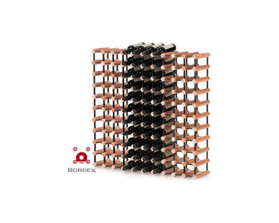 Bordex 110 Bottle Wine Rack - Bordex commercial wine racks are the most space saving units in the world and their unique residential modular racks are available in a range of kit sizes and can also be custom made to accommodate any size wall or cabinetry. Made from quality hardwood plantation timber and baked enamel steel, every Bordex wine rack is manufactured to the highest standard.