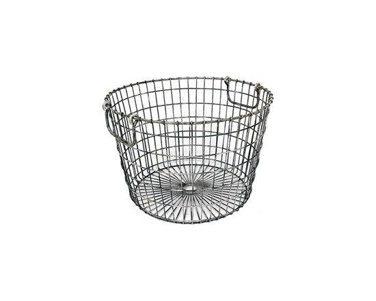 Round Metal Wire Basket -