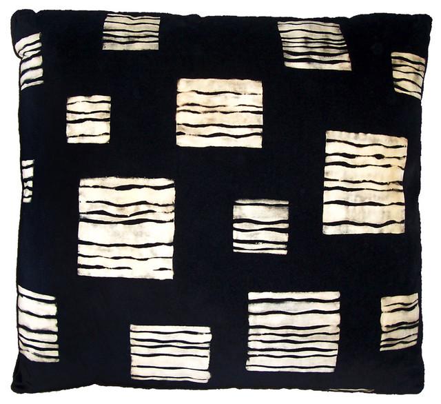 Modern Designer Hand Print Pillow contemporary-decorative-pillows