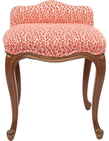 Pink Cheetah Boudoir Stool modern furniture