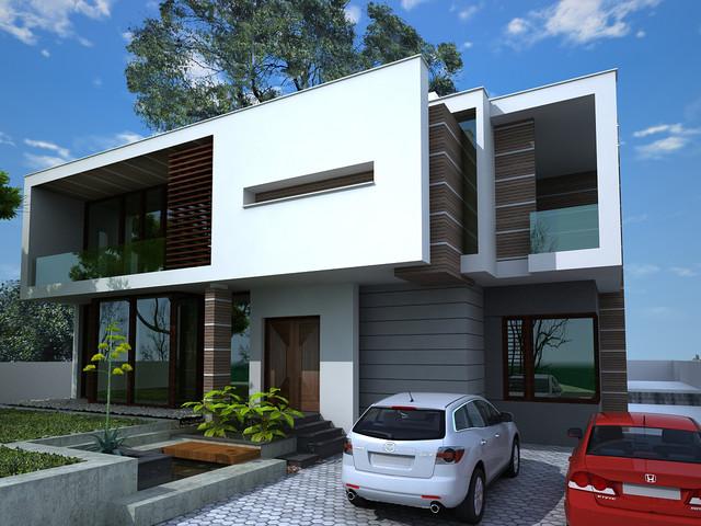 Residential Bungalow 1000Sqyrd - Modern - Rendering ...
