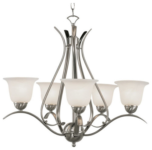 Energy Saving Ribbon Branched Five-Light Chandelier modern-chandeliers