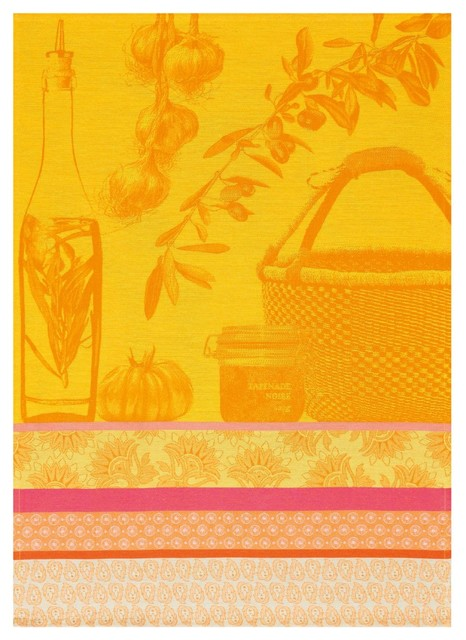 Saveurs de Provence Tea Towels, Lemon, Saveurs traditional-dish-towels