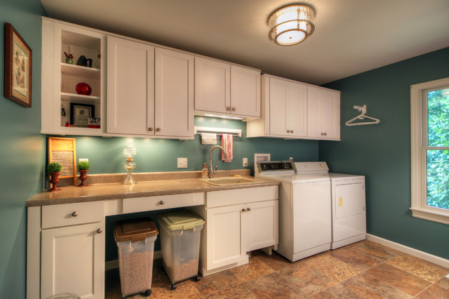 Pet-Friendly Laundry Room - Contemporary - Laundry Room - st louis ...