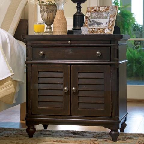 Paula deen door nightstand in tobacco traditional - Paula deen tobacco bedroom furniture ...