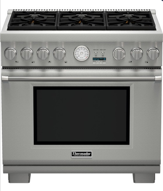 Thermador 36 Dual-Fuel Range PRD364EDG contemporary gas ranges and electric ranges