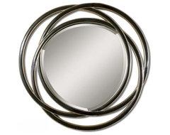 www.essentialsinside.com:  odalis entwined circles black mirror contemporary-mirrors