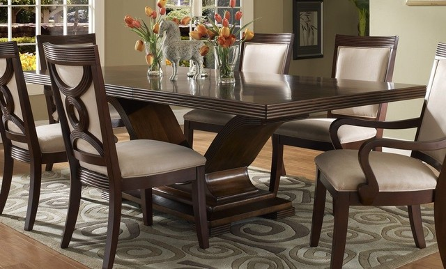 dining table in walnut dark wood dining tables by efurniture mart