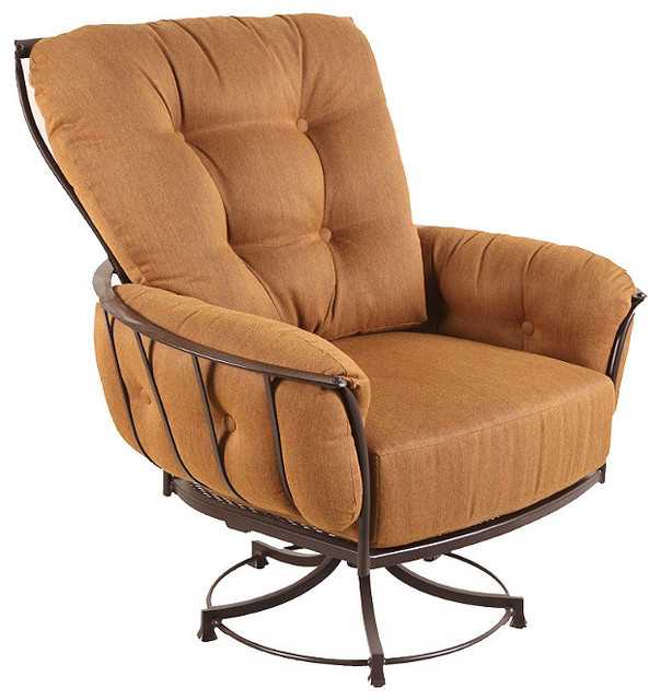Swivel Outdoor Rocker Club Chair with Cushion, Patio Furniture ...