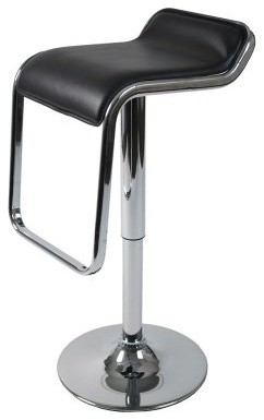 Euro Style Furgus Adjustable Bar Stool Black contemporary-bar-stools-and-counter-stools