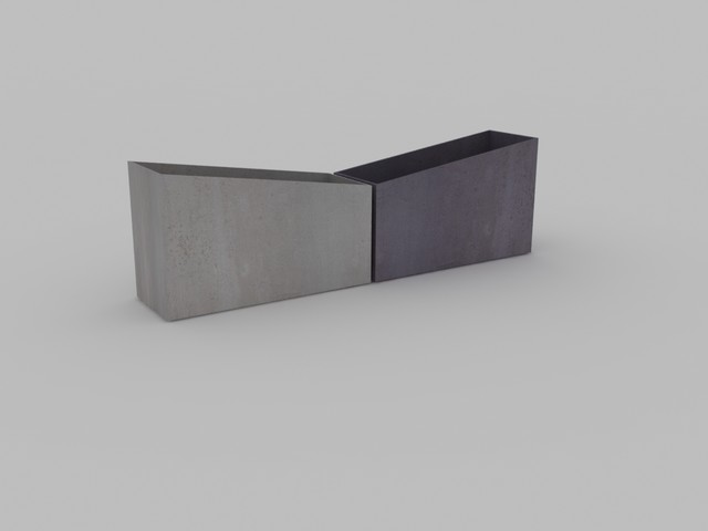 concrete planters by Concrete Shop.NYC,NY modern-outdoor-pots-and-planters