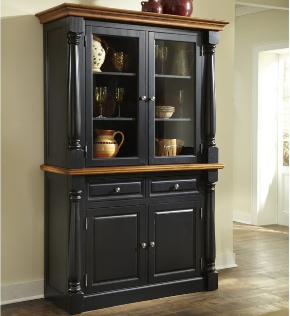 Home Styles Monarch China Cabinet - Black & Oak - 5008-617 - Contemporary - China Cabinets And ...