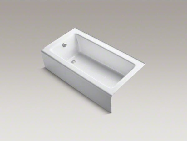 kohler bellwether r 60 quot x 32 quot alcove bath with integral