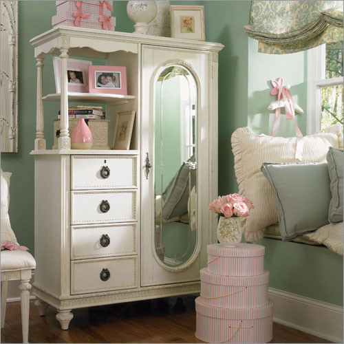 Emma's Treasures Mirrored Door Chest Armoire traditional