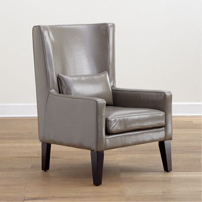 Grey Triton High Back Bi-Cast Leather Chair modern armchairs