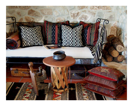 Custom & Ready Made Pillows ~ Ethnic Pillows - High-end Custom and Ready made pillows available on-line. Perfect for the Southwest Adobe Home, a Rustic Lodge, or an Interior Focusing on Ethnic Style. These Original Decorative Pillows, Incorporate a Variety of Specialty Textiles. Couture Custom Workroom Services Available. Artisanaworks