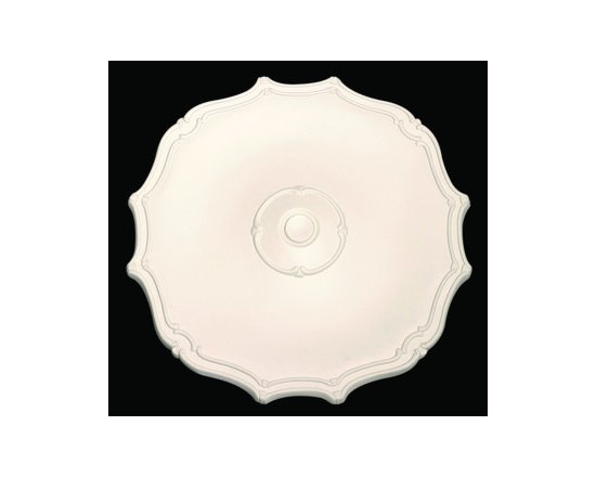 White Urethane Ceiling Medallion - White Urethane Ceiling Medallions: Made of virtually indestructible high-density urethane our medallions are cast from steel molds making them the highest quality on the market.