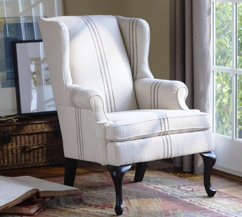 Gramercy wingback chair modern armchairs and accent for Modern queen anne furniture