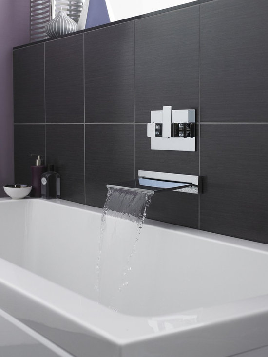 Waterfall Tub Filler - Hudson Reed Waterfall Tub Filler, can also be used as shower faucet.